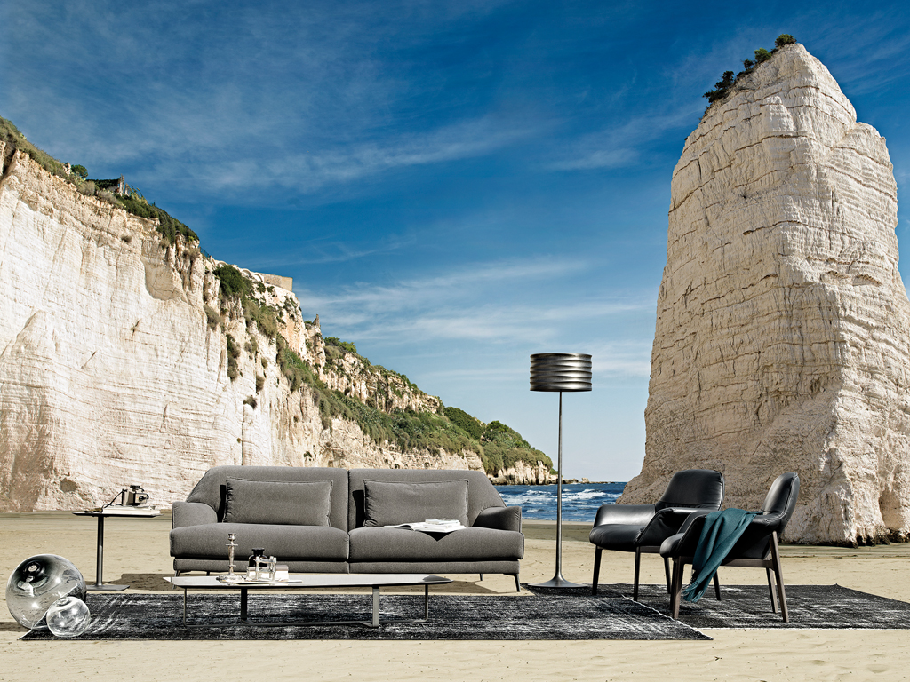Natuzzi Italy . Don GIovanni sofa . Design architect Claudio Bellini . Comfortable and with wide and deep seated .