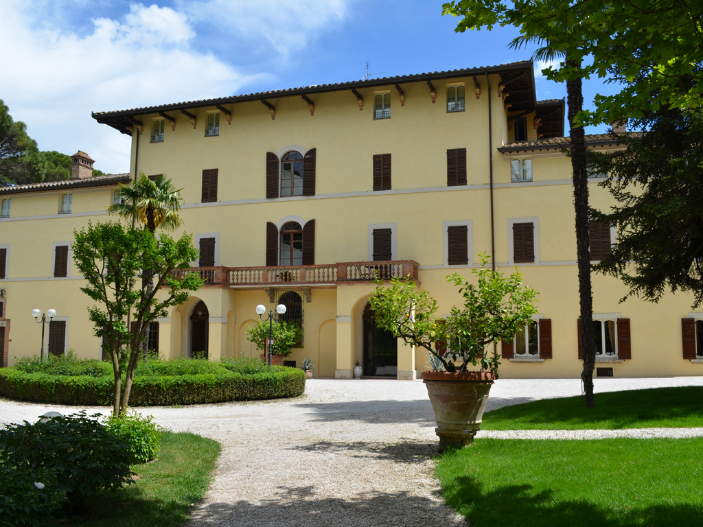 Hotel Alla Posta dei Donini. Main entrance. Alla Posta dei Donini. Main entrance. The property consists of two houses: Villa Costanza and Villa Laura, plus the caretaker