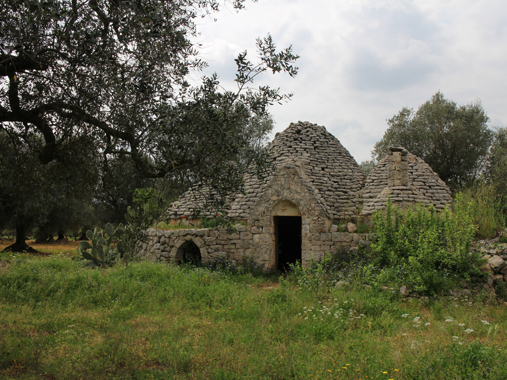 Relais Villa Aieni. Istria. San Vito of the Normans. The trullo before the renovation completed in 2016